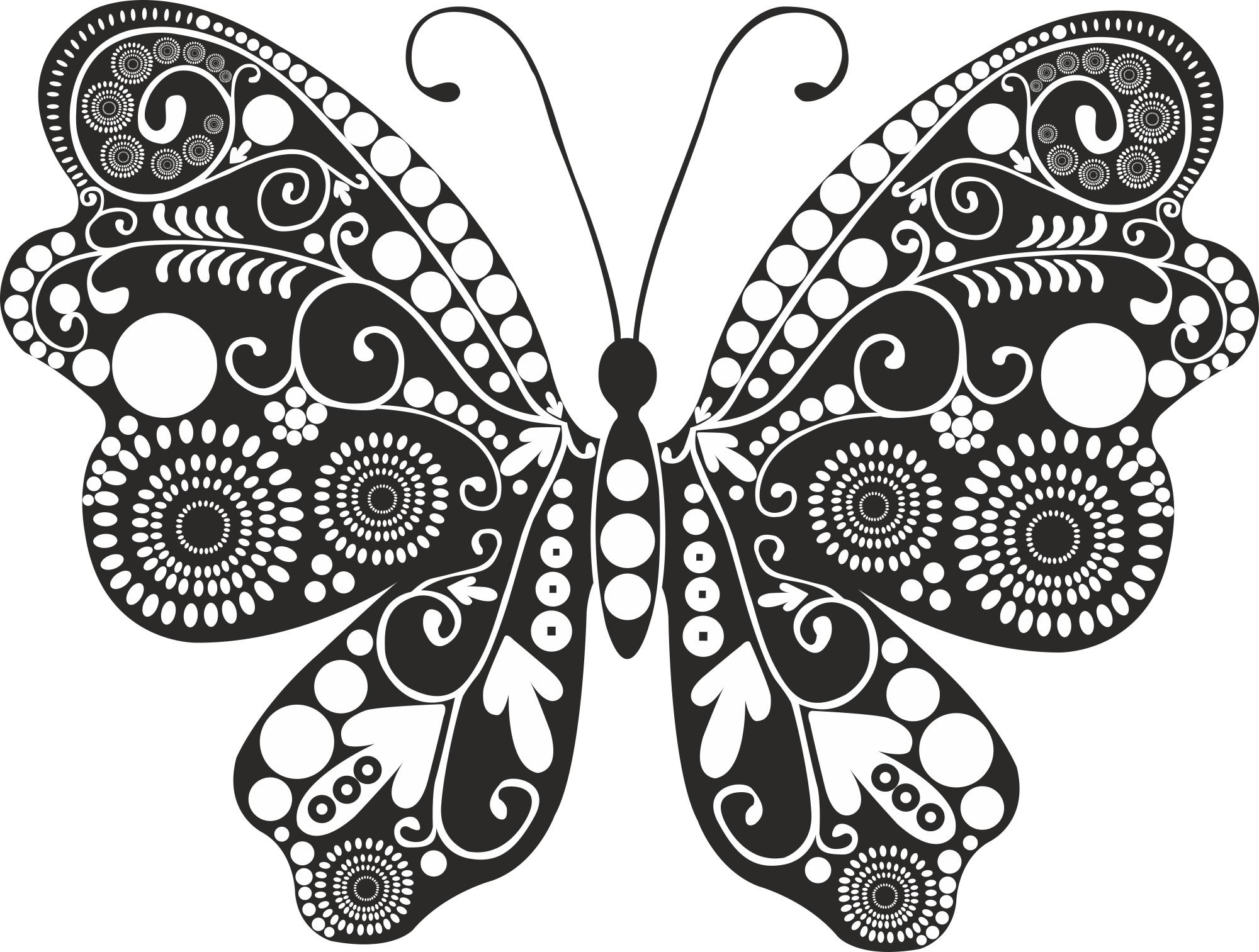Butterfly Swirl Free Vector