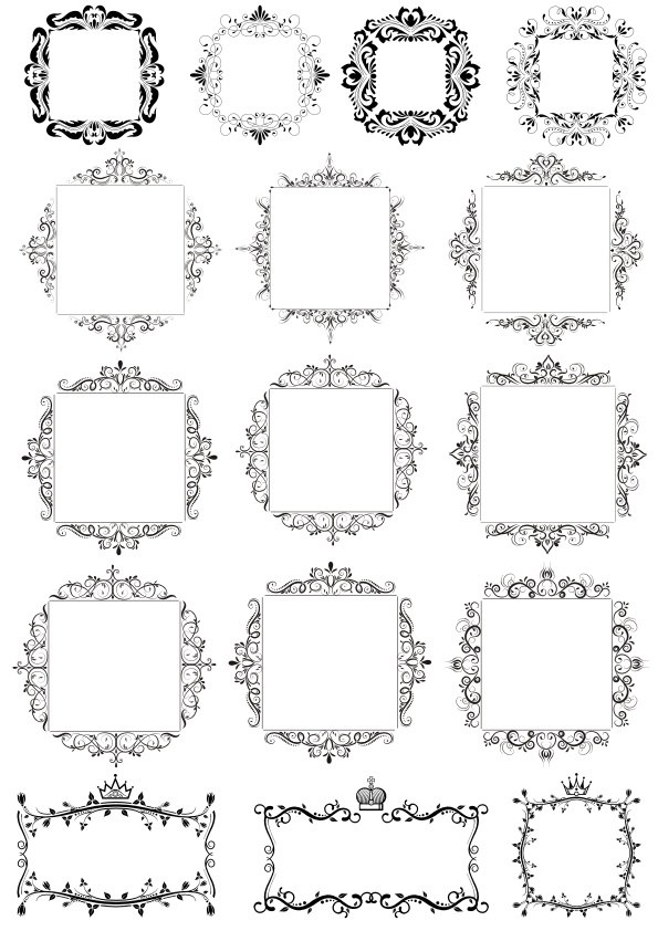 Decorative Frames Free Vector