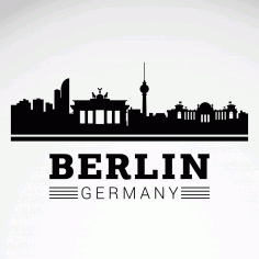 City Berlin Skyline SVG File