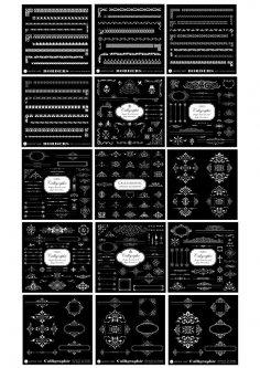 Calligraphic Design Elements Free Vector
