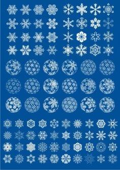 Snowflake Vector Shape Set Free Vector