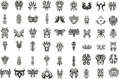 Tattoo Tribal Set Free Vector