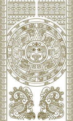 Maya Totem Vector Free Vector