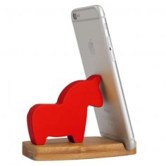 Laser Cut Horse Phone Stand Free Vector