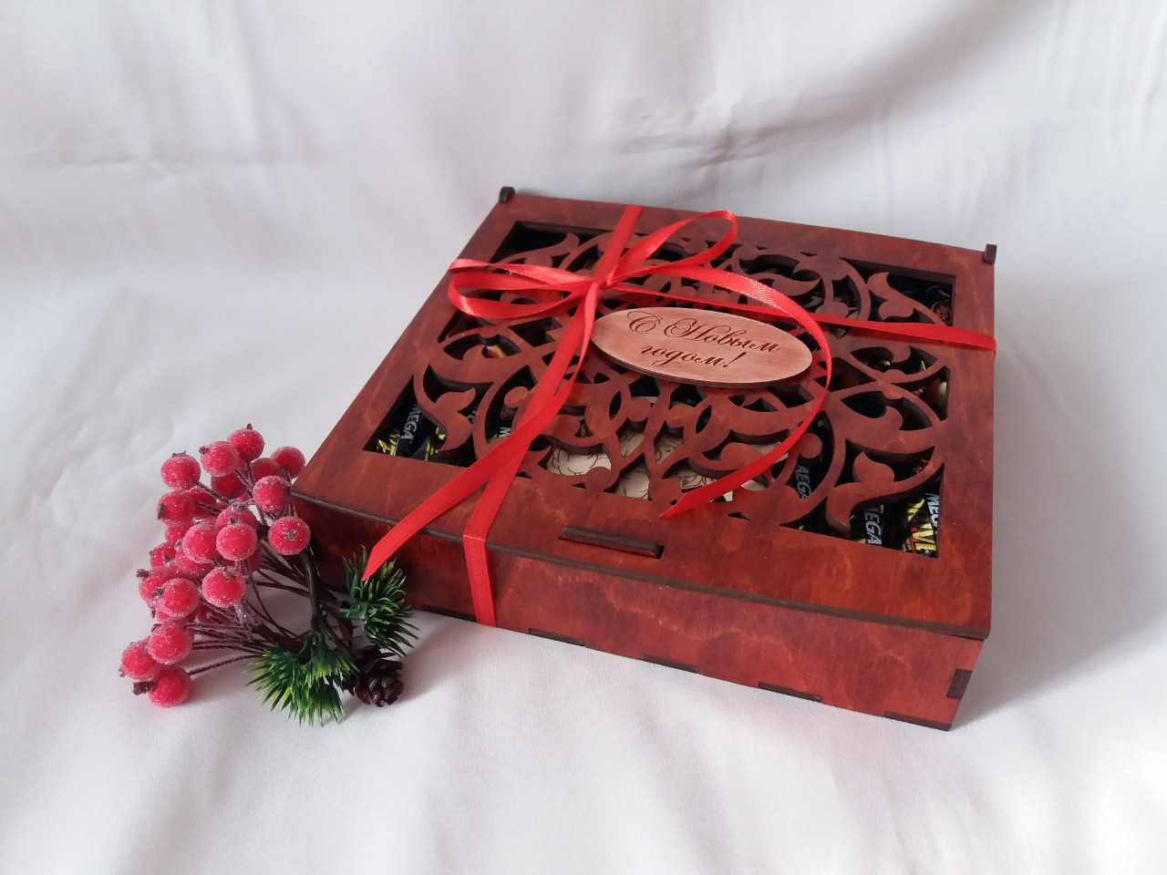 Laser Cut Chocolate Gift Box Candy Box Plywood 4mm Free Vector