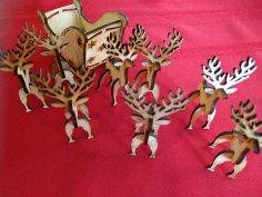 Laser Cut Christmas Reindeer 3mm Free Vector