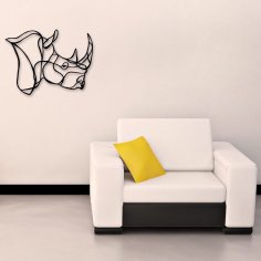Laser Cut Rhino Wall Art Home Decor Ideas Free Vector