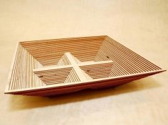 Laser Cut Wooden Spring Dry Fruit Tray Free Vector