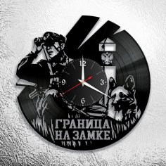Laser Cut Military Wall Clock DXF File