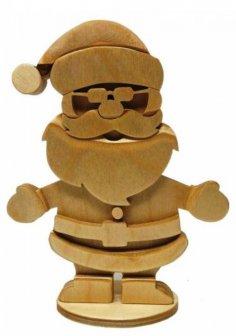 Laser Cut Wooden Santa Claus Free Vector