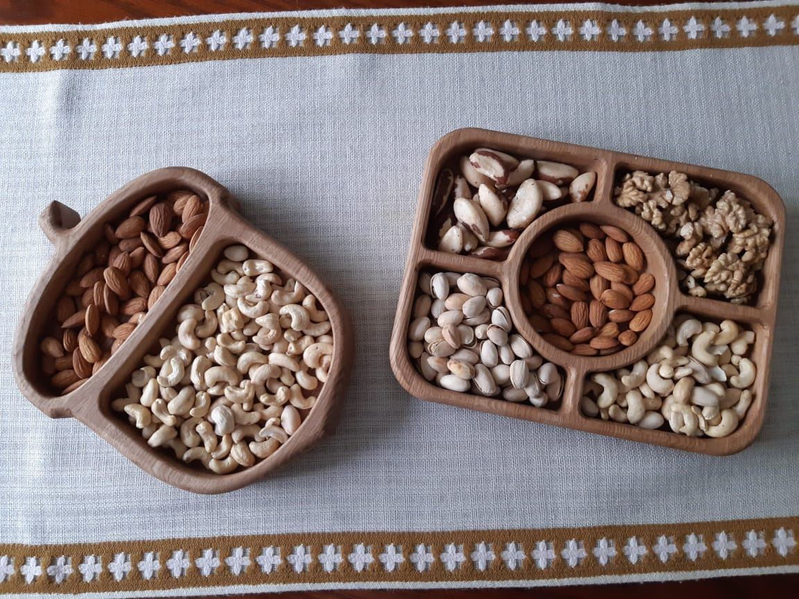 Laser Cut Wooden Dry Fruit Tray Free Vector