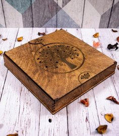 Laser Cut Wooden Photo Album Box 4mm Free Vector