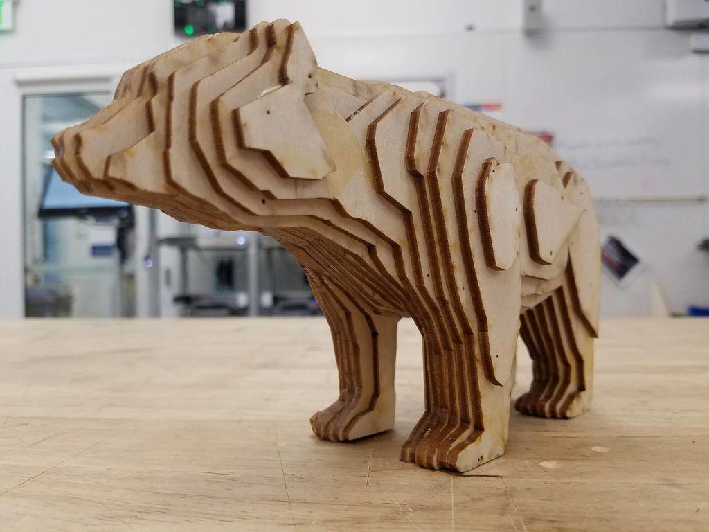 Laser Cut Bear PDF File