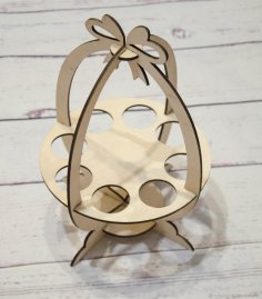 Easter Egg Holder Laser Cut Template Free Vector