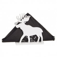 Laser Cut Elk Napkin Holder Template Free Vector