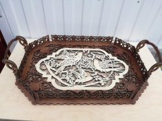 Laser Cut Decorative Tray Template Free Vector