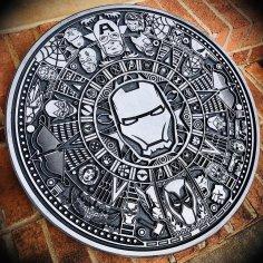 Laser Cut Engraving Marvel Aztec Calendar Free Vector