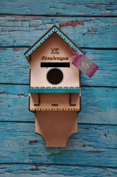 Laser Cut Birdhouse Template Free Vector