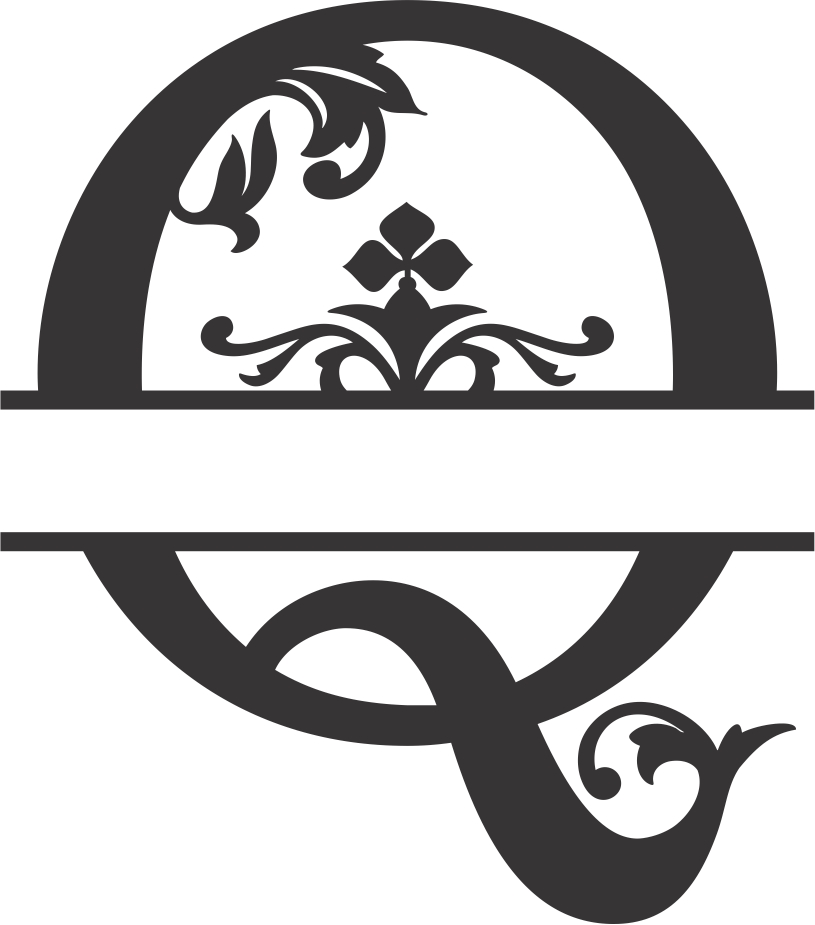 Regal Split Font Q DXF File