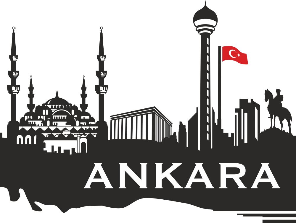 Ankara Skyline Free Vector