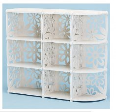 Laser Cut Decorative Shelf Bookcase Free Vector