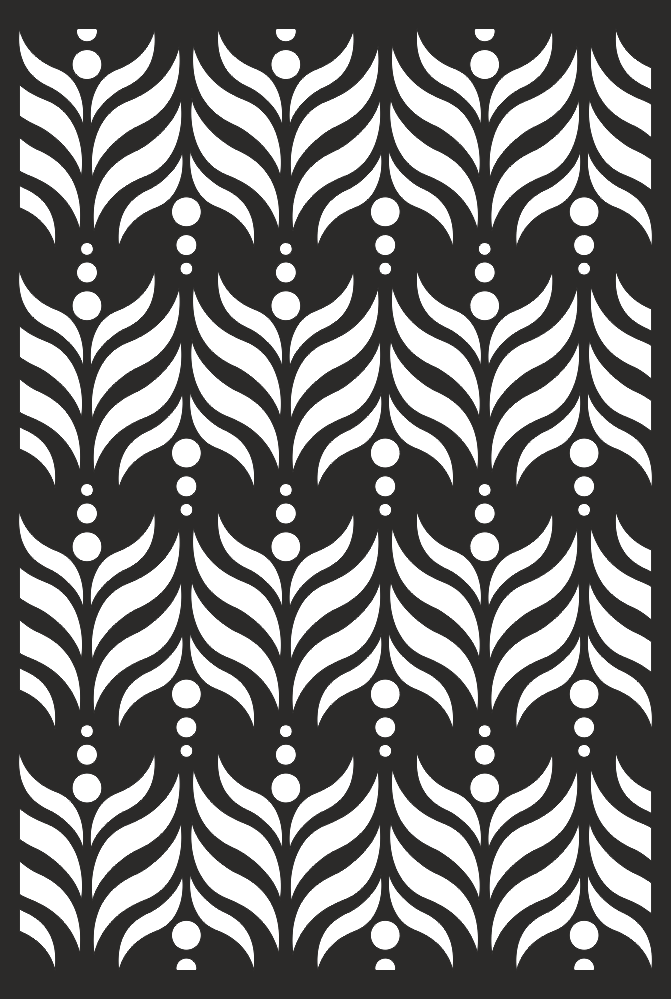 Decorative Screen Grille Panel Pattern Free Vector