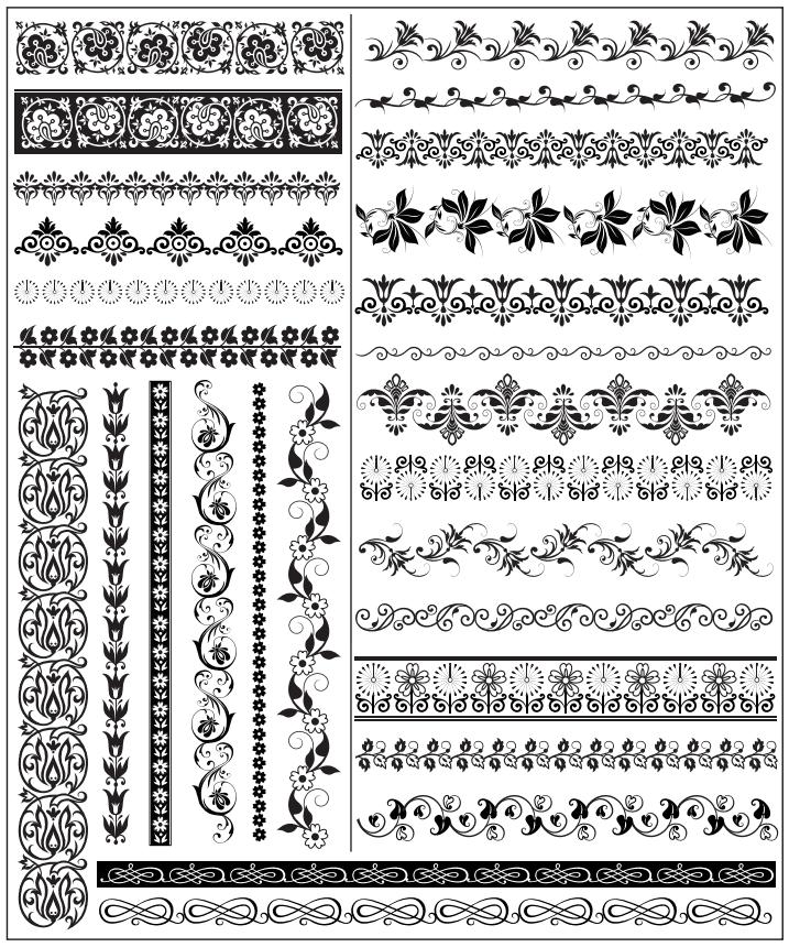 Set Of Decorative Elements Free Vector