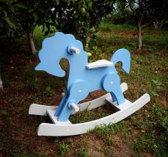 Rocking Horse Laser Cut CNC Plans Free Vector