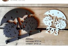 Laser Cut Hedgehog Key Hanger Free Vector