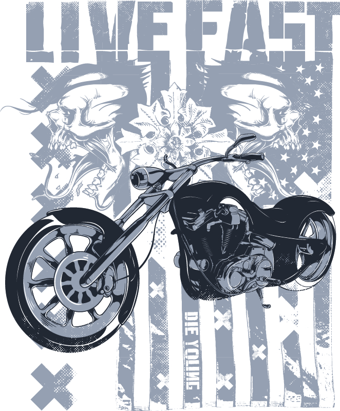 Live Fast Poster Vector Art Free Vector