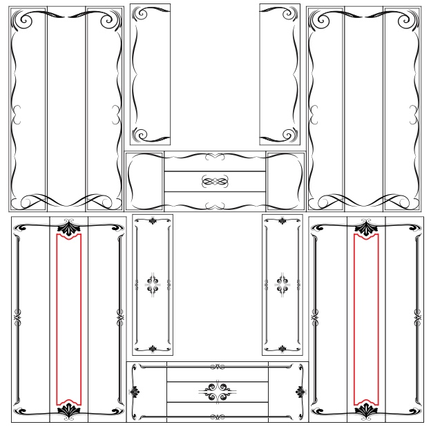 Laser Cut Designs Free Vector