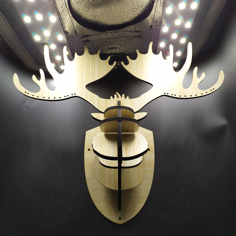Laser Cut Moose Head 3D Puzzle Moose Head Wall Decor SVG File