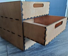 Laser Cut Ikea Kallax Drawer 5mm Plywood 33x33cm SVG File