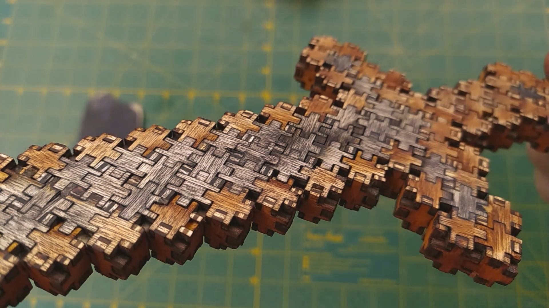 Laser Cut Minecraft Sword 3d Puzzle 3mm Plywood Piece Size 12x12mm DXF File