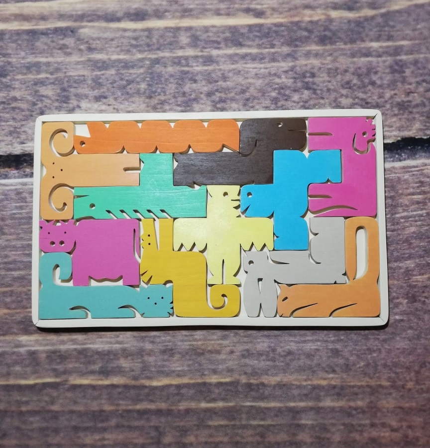 Laser Cut Chinese Zodiac Jigsaw Puzzle Free Vector