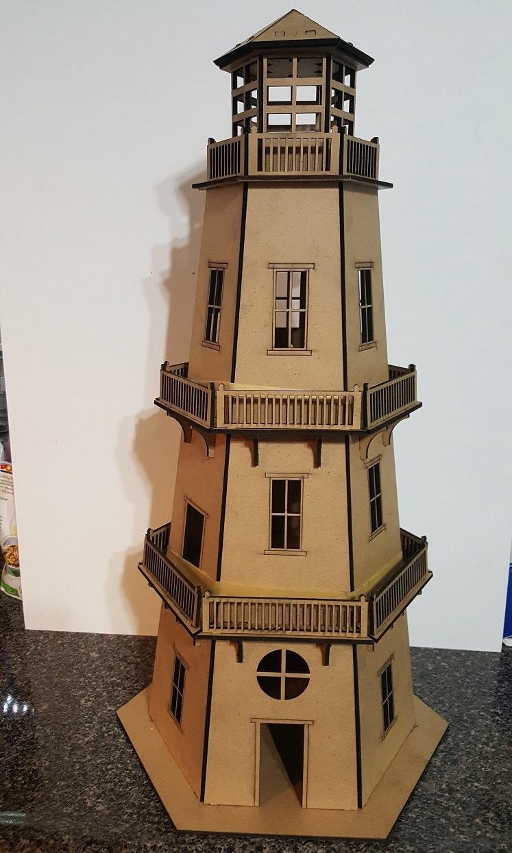 Laser Cut Lighthouse 3D Puzzle DXF File