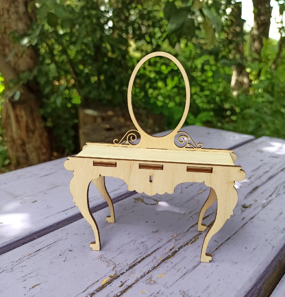 Laser Cut Wooden Doll House Furniture DXF File