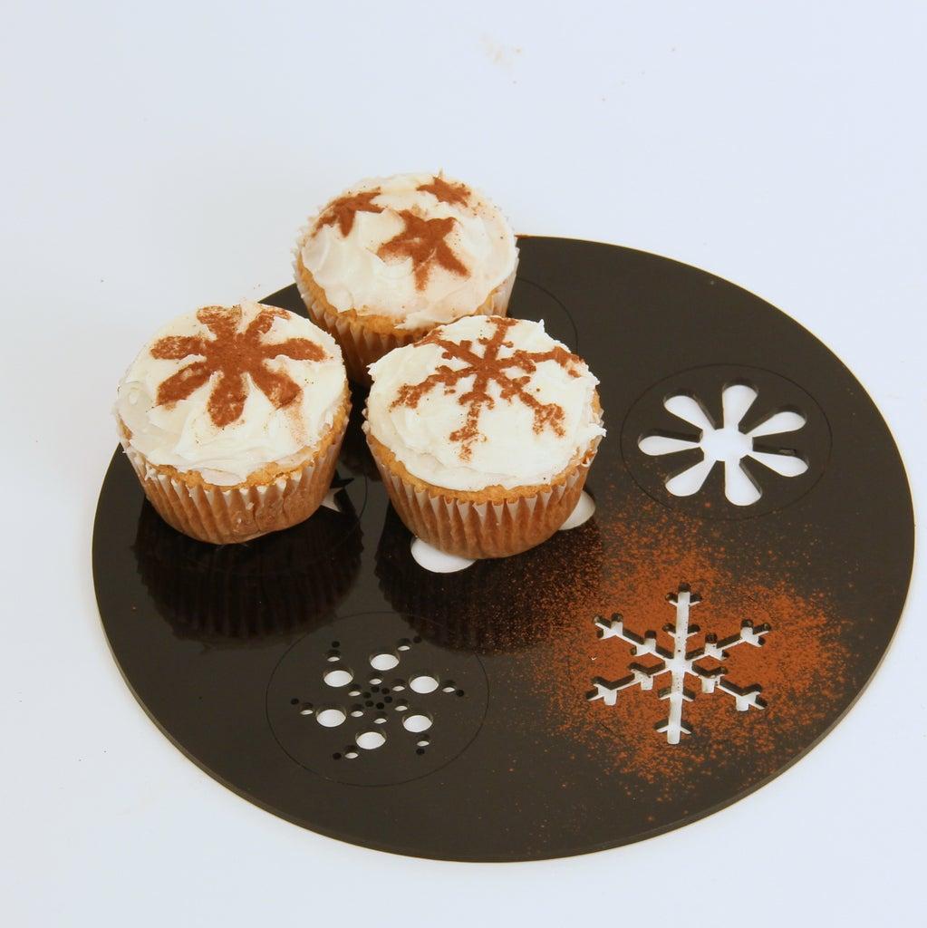Laser Cut Cupcake Stencil DXF File