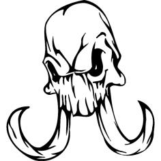 Skull 013 dxf File