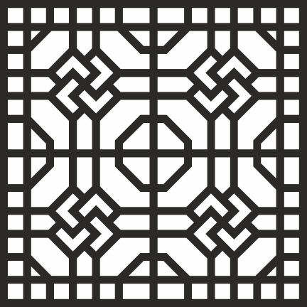Geometric Jali Design CDR File