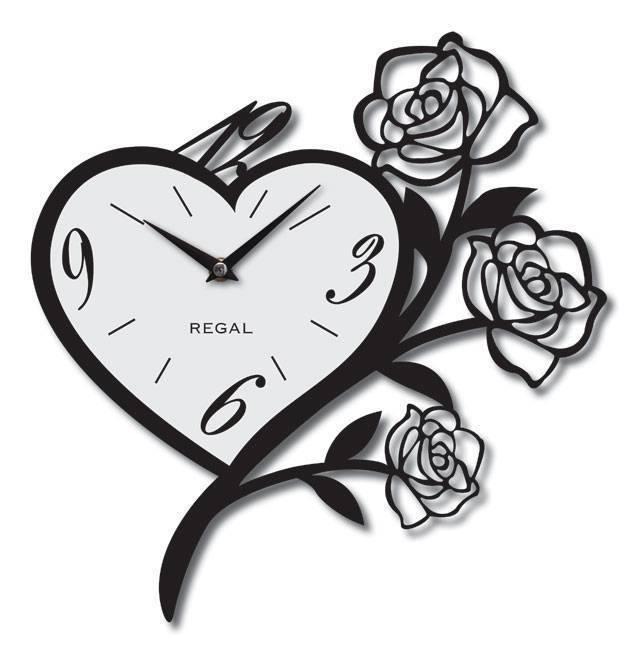 Floral Clock Stencil Vector Art jpg Image