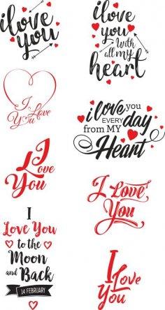 I Love U vector art