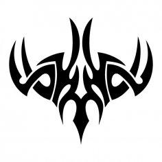 Vector tribal tattoo jpg Image
