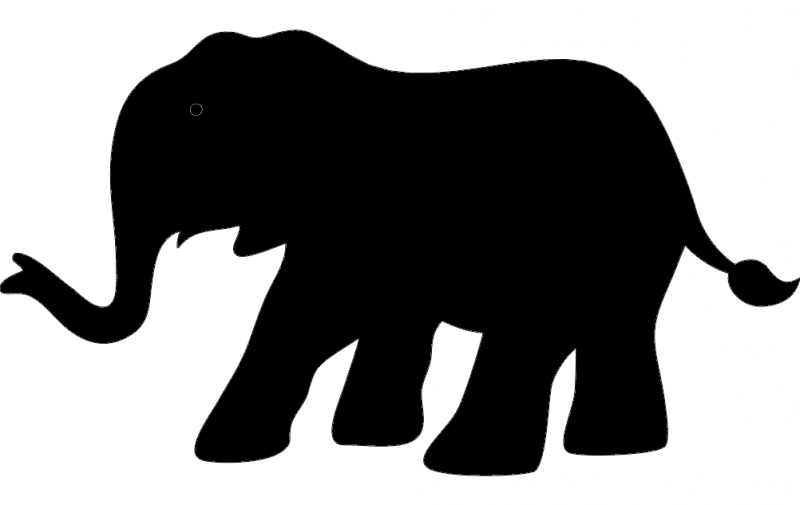 Elephant Silhouette vector dxf File