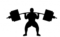 Weightlifting silhouette dxf File