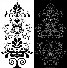 Decorative Floral Pattern dxf File
