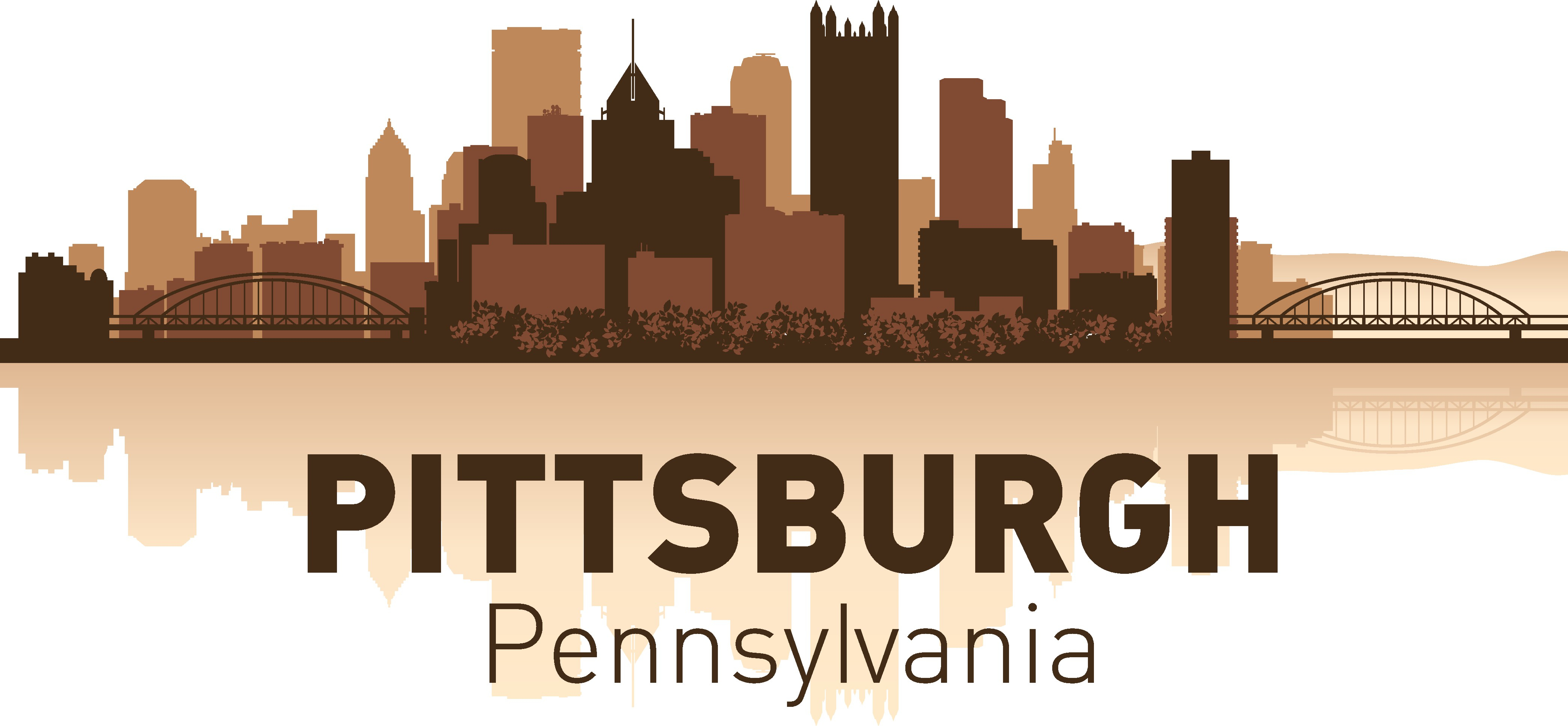 Pittsburgh Skyline Free Vector