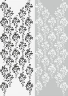 Abstract Flowers Sandblast Pattern Free Vector