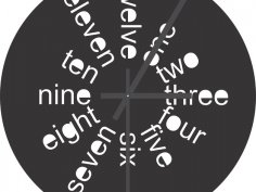 Clock Laser Cut DXF File