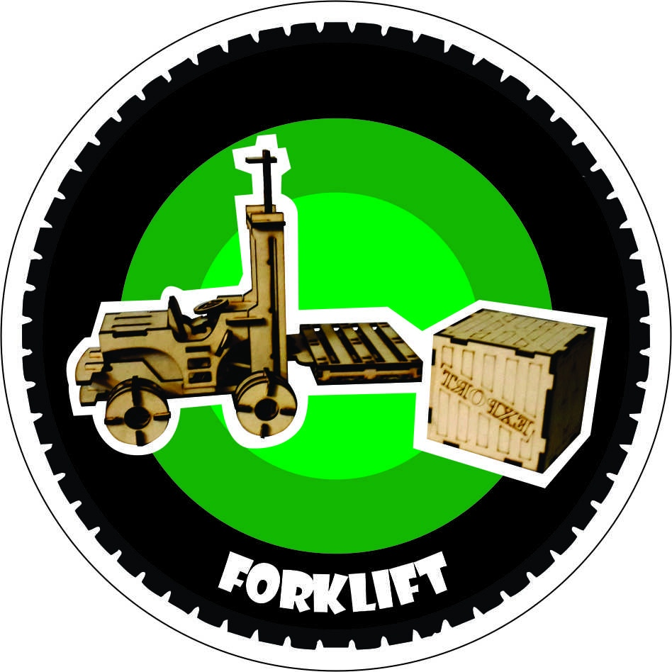 Fork Lift Truck Laser Cut Wooden 3D Model /Puzzle Kit DXF File